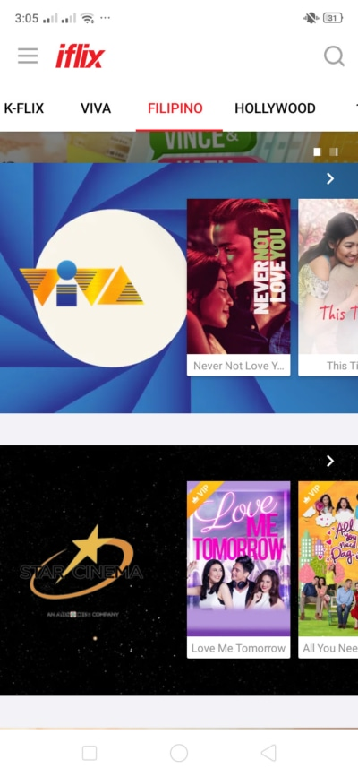 Filipino Films on Android by iFlix from UIGarage