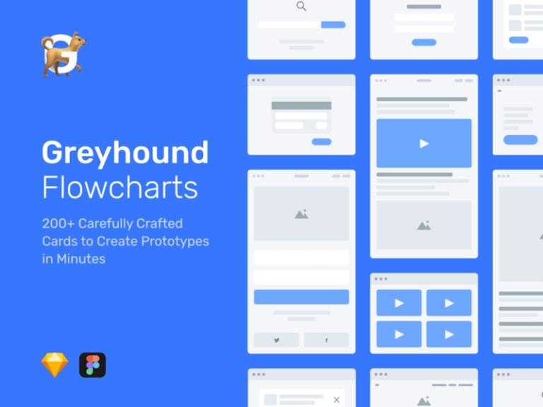 Greyhound - Free Flowchart Kit from UIGarage