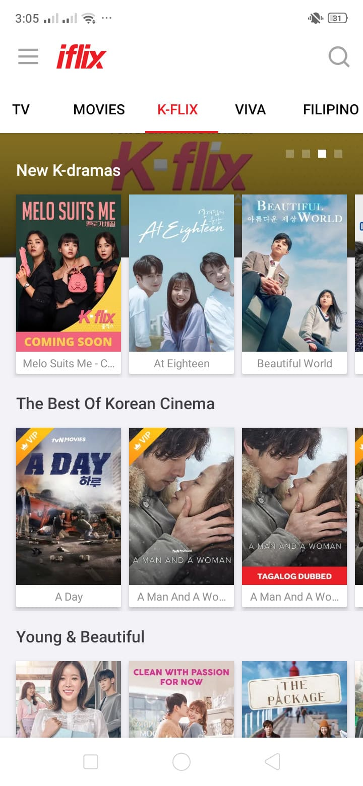 Kflix on Android by iFlix from UIGarage