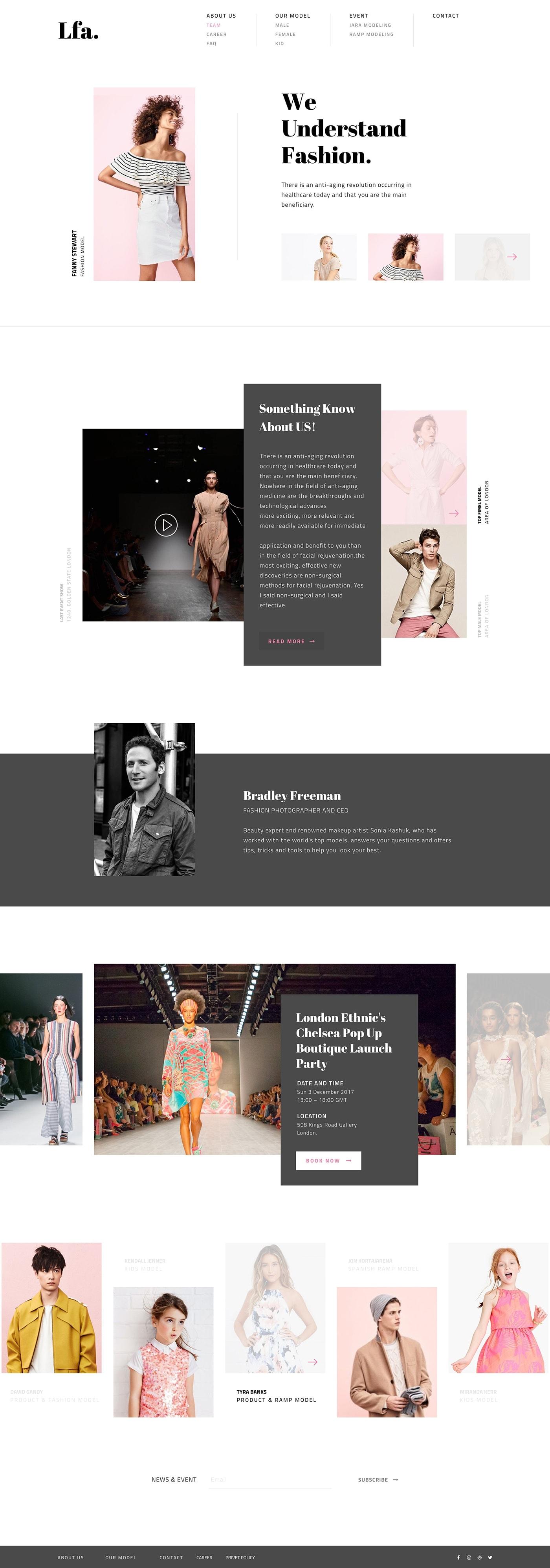 LFA - Fashion Agency Website from UIGarage