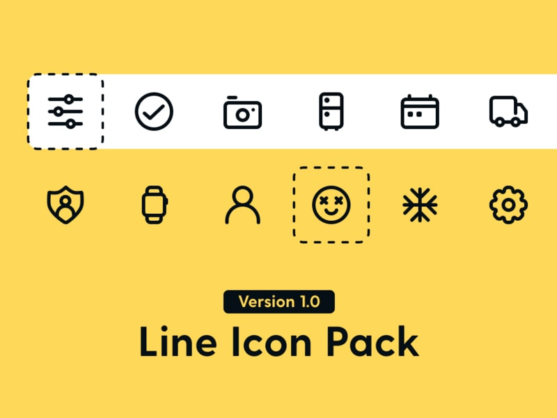 Line Icon Pack from UIGarage