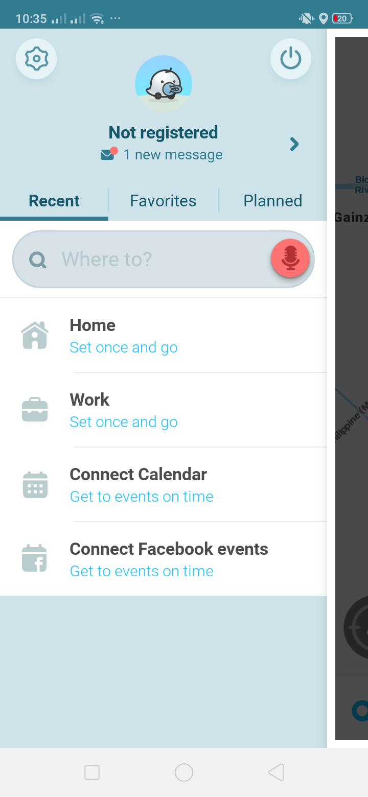 Menu on Android by Waze from UIGarage
