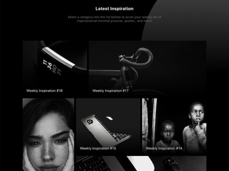Minimal Black / White Website from UIGarage