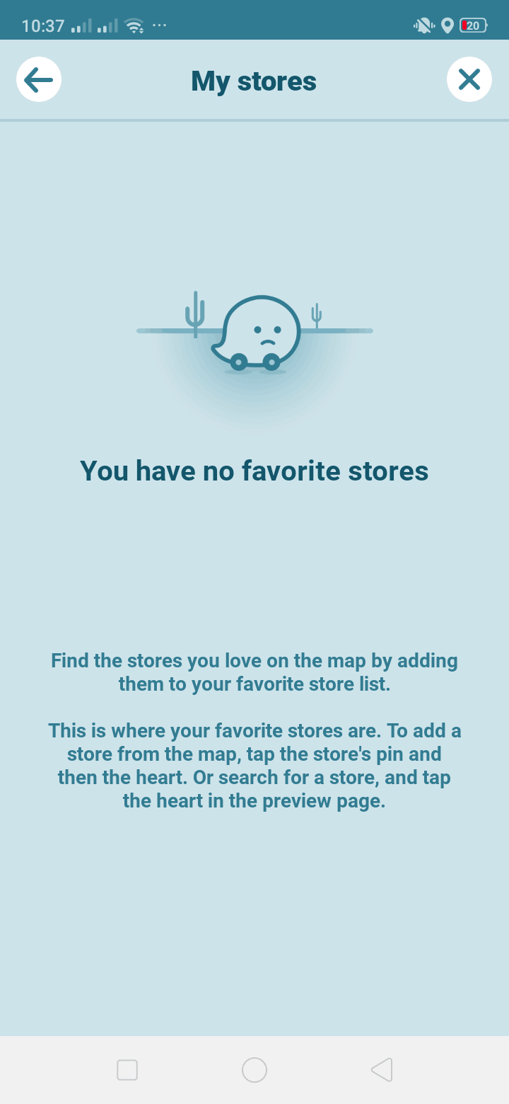 My Stores on Android by Waze from UIGarage