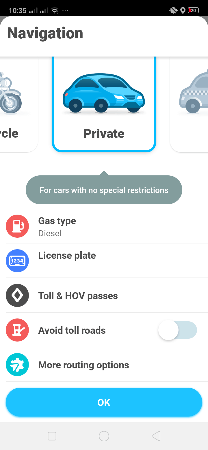 Navigation on Android by Waze