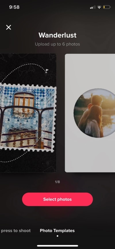 Photo Template on iOS by Tiktok from UIGarage