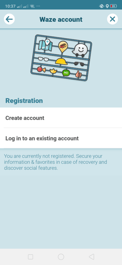 Waze Account on Android by Waze from UIGarage