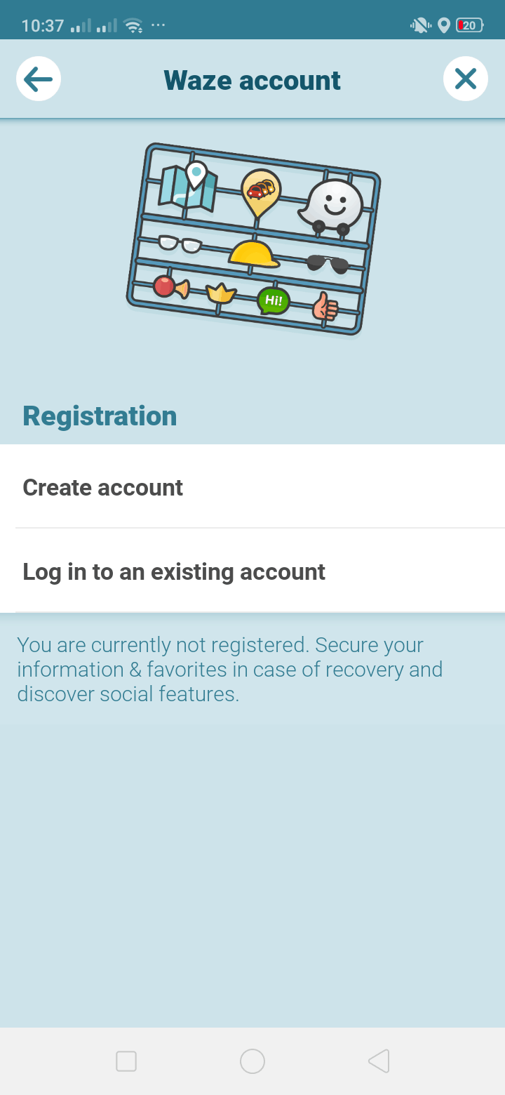 Waze Account on Android by Waze