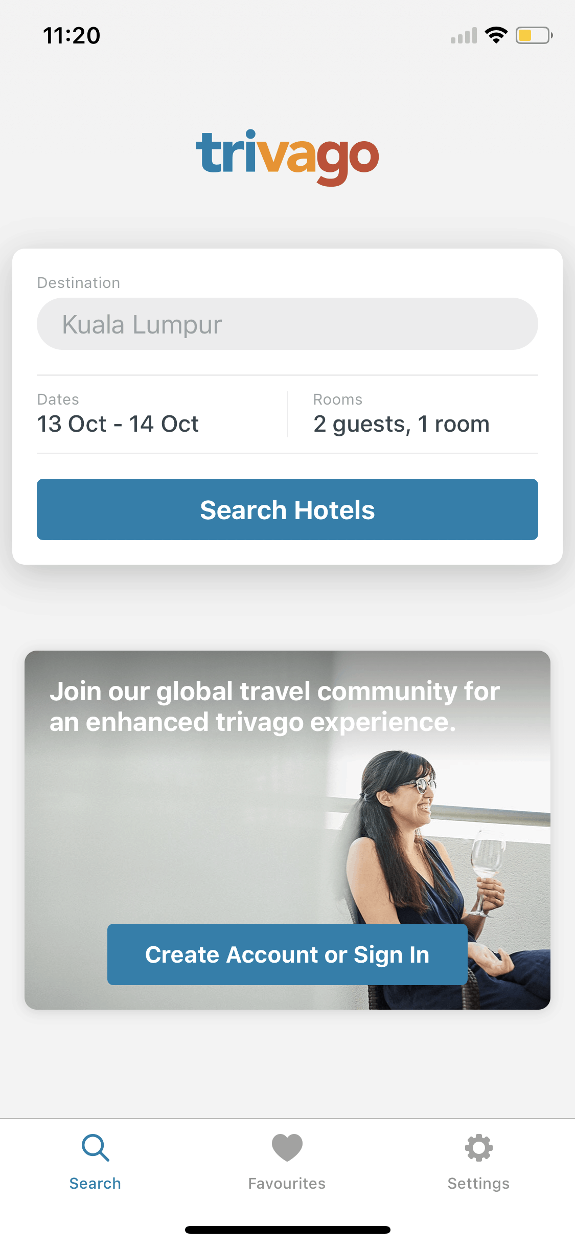 Search on iOS by Trivago from UIGarage