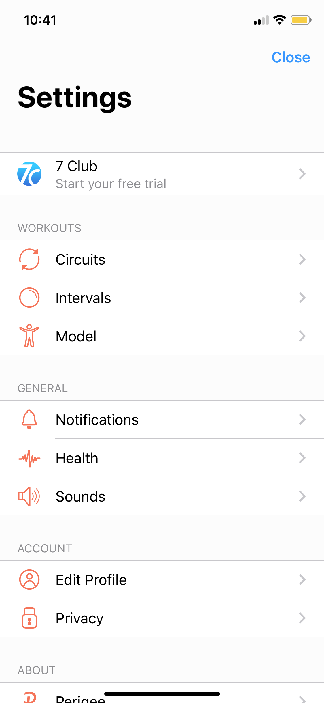 Settings on iOS by Seven from UIGarage