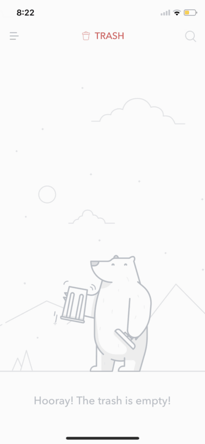 Trash on iOS by Bear from UIGarage