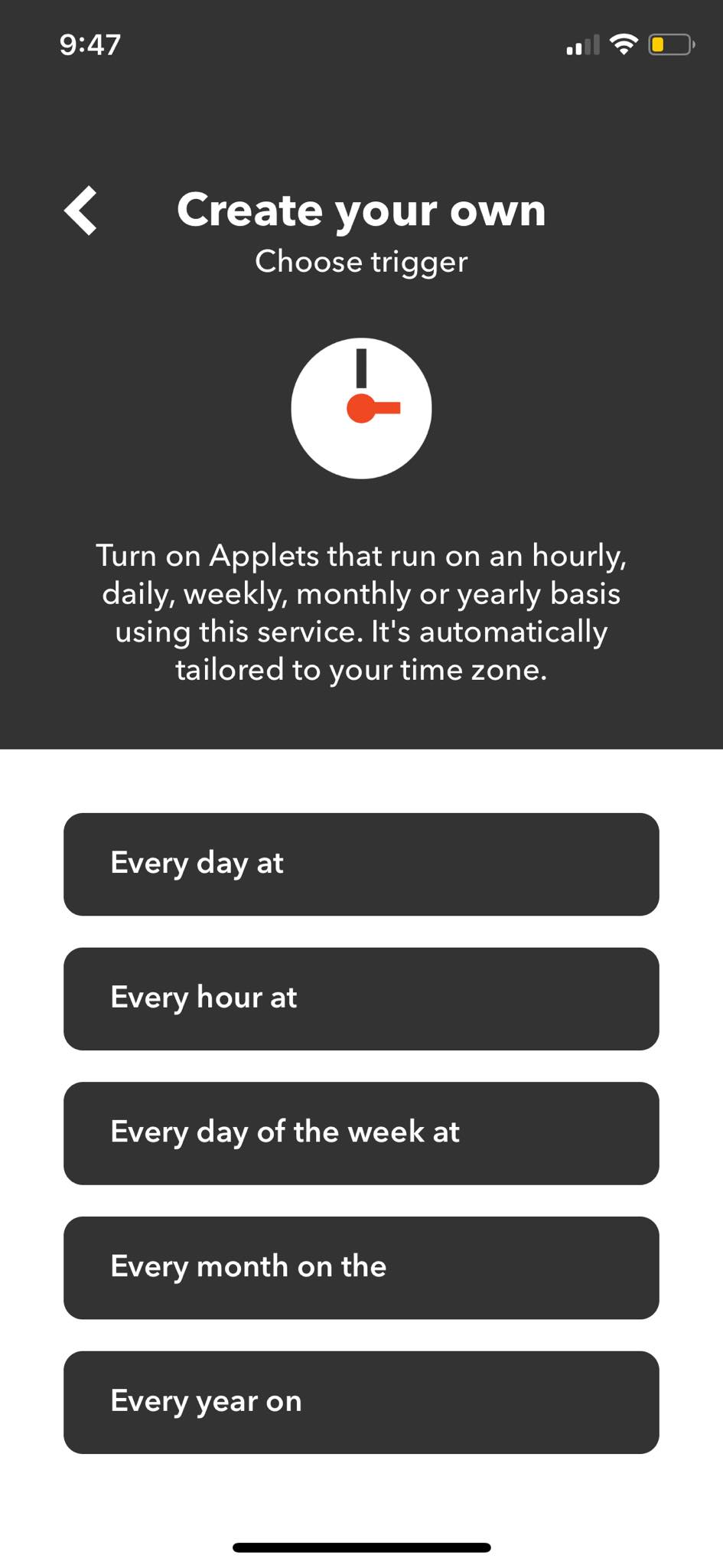 Turn on Applets on iOS by IFTTT from UIGarage
