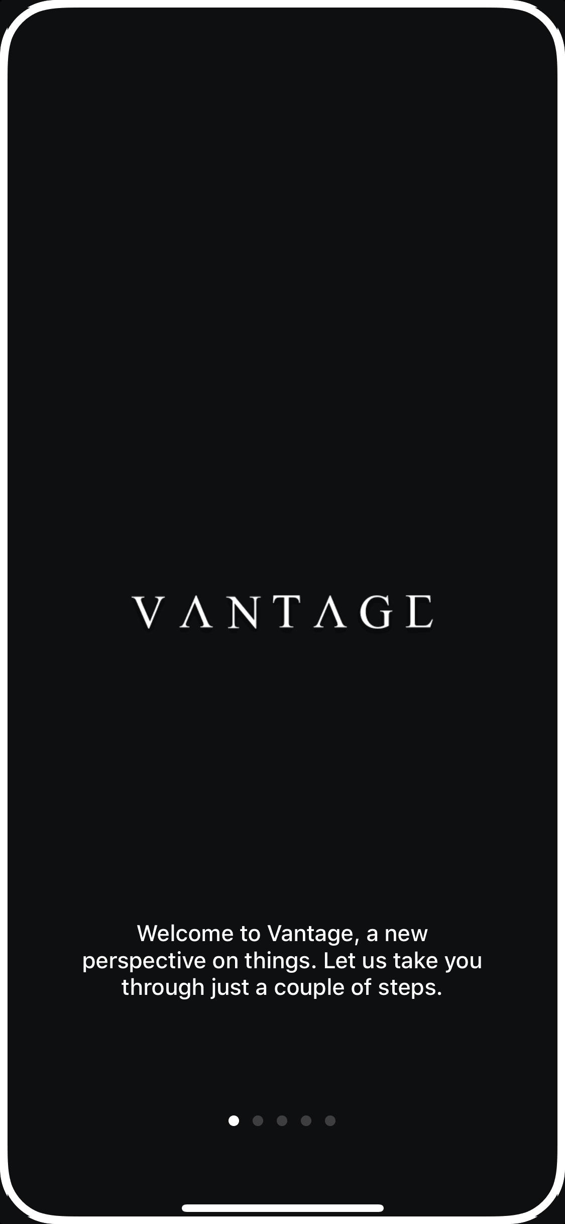 Walkthrough on iOS by Vantage