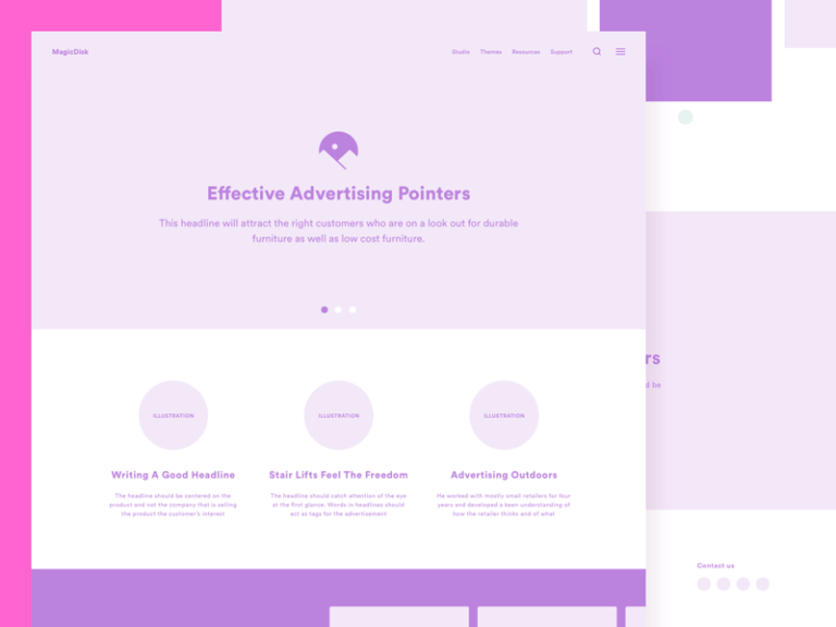 Website Wireframe Kit from UIGarage