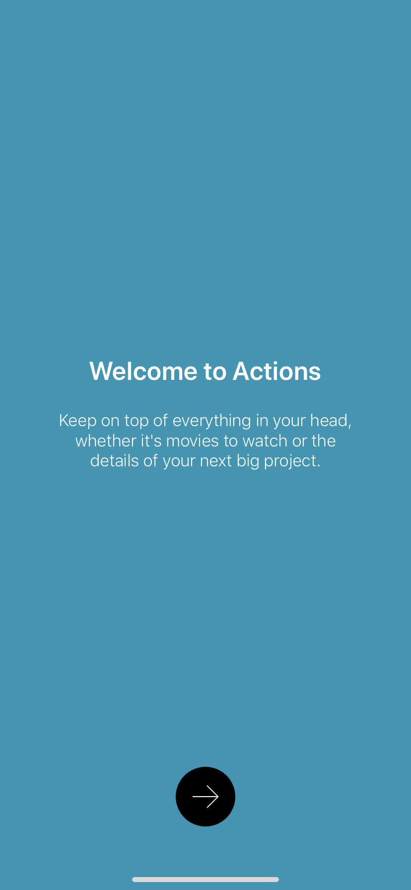 Welcome on iOS by Actions