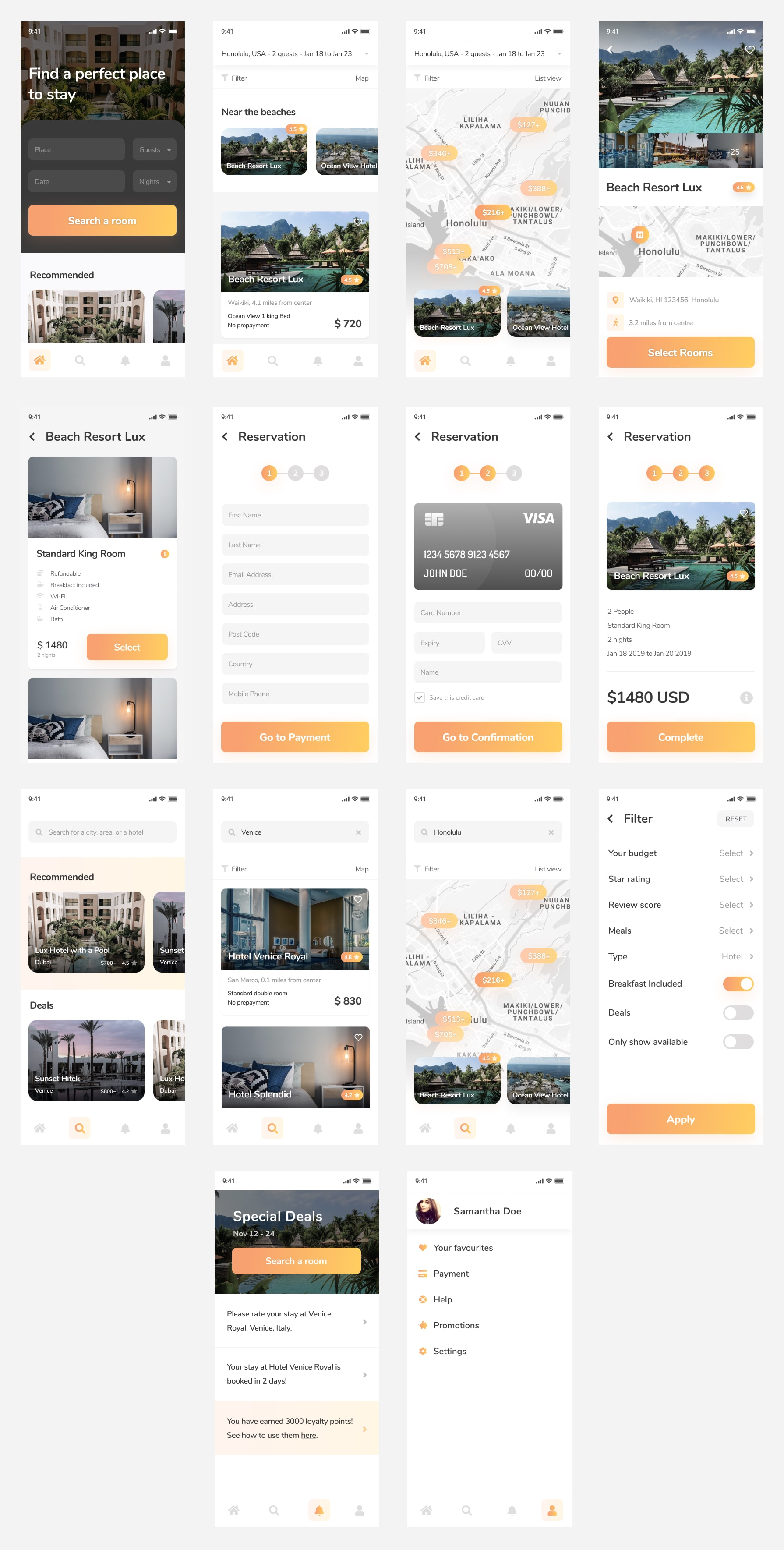 Hotelify - Hotel Booking App for Figma from UIGarage