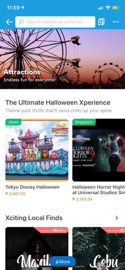 Attractions on iOS by Traveloka from UIGarage
