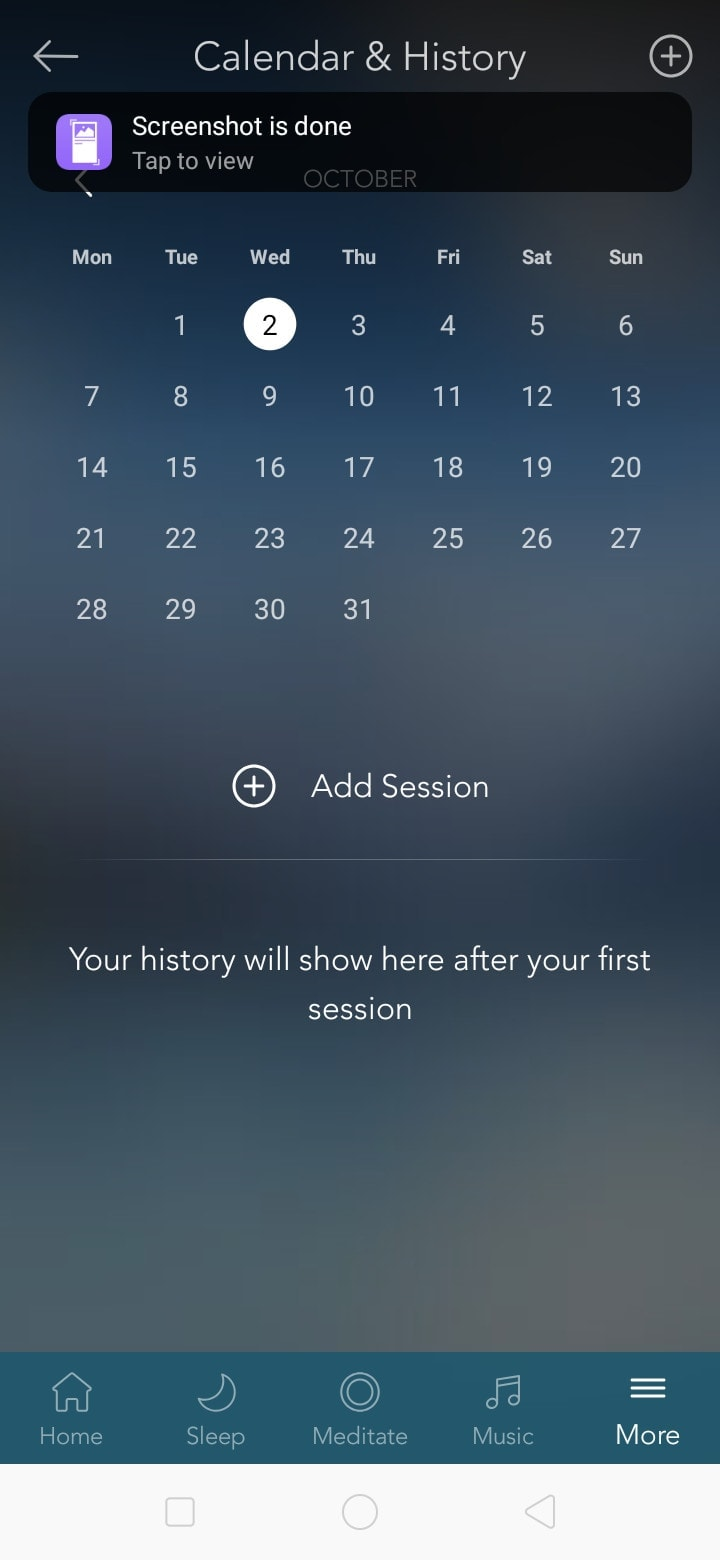 Calendar and History on Android by Calm from UIGarage