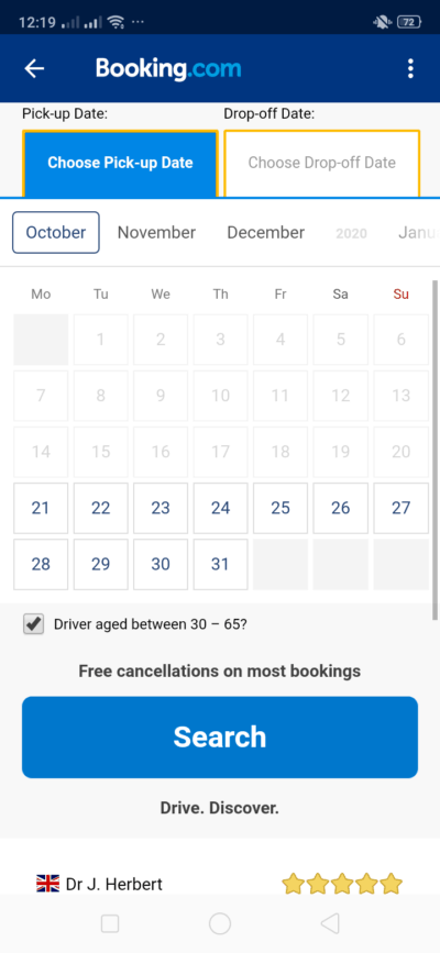 Calendar on Android by Booking.com from UIGarage