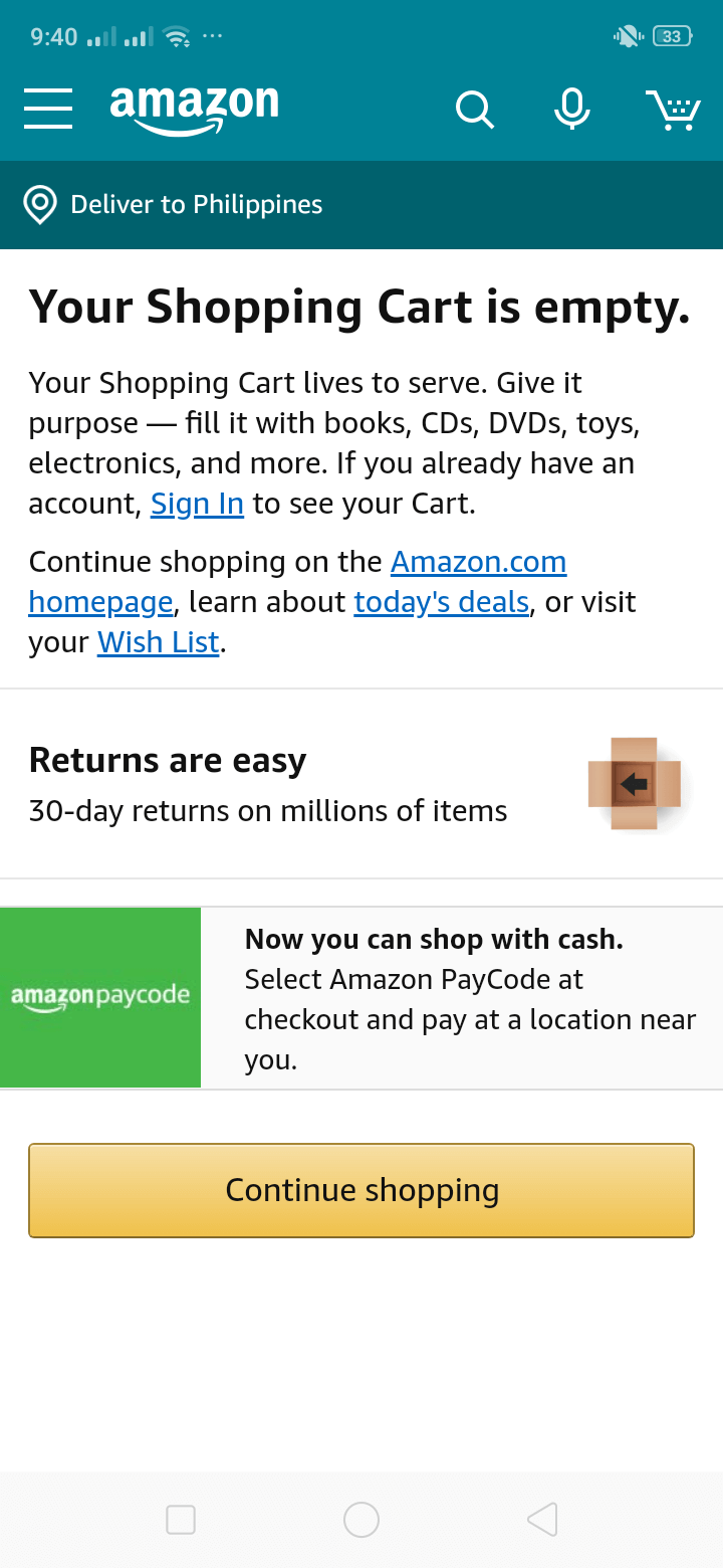 Cart on Android by Amazon from UIGarage