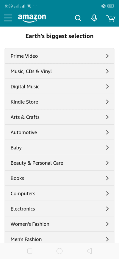 Categories on Android by Amazon from UIGarage