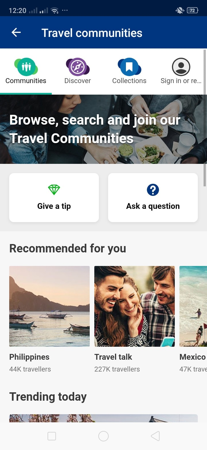 Communities on Android by Booking.com from UIGarage