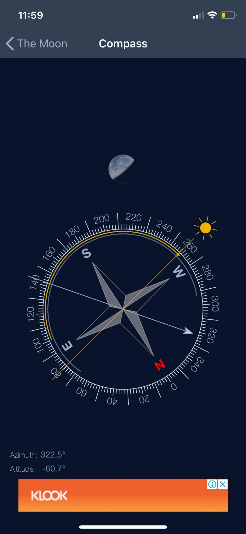 Compass on iOS by The Moon from UIGarage