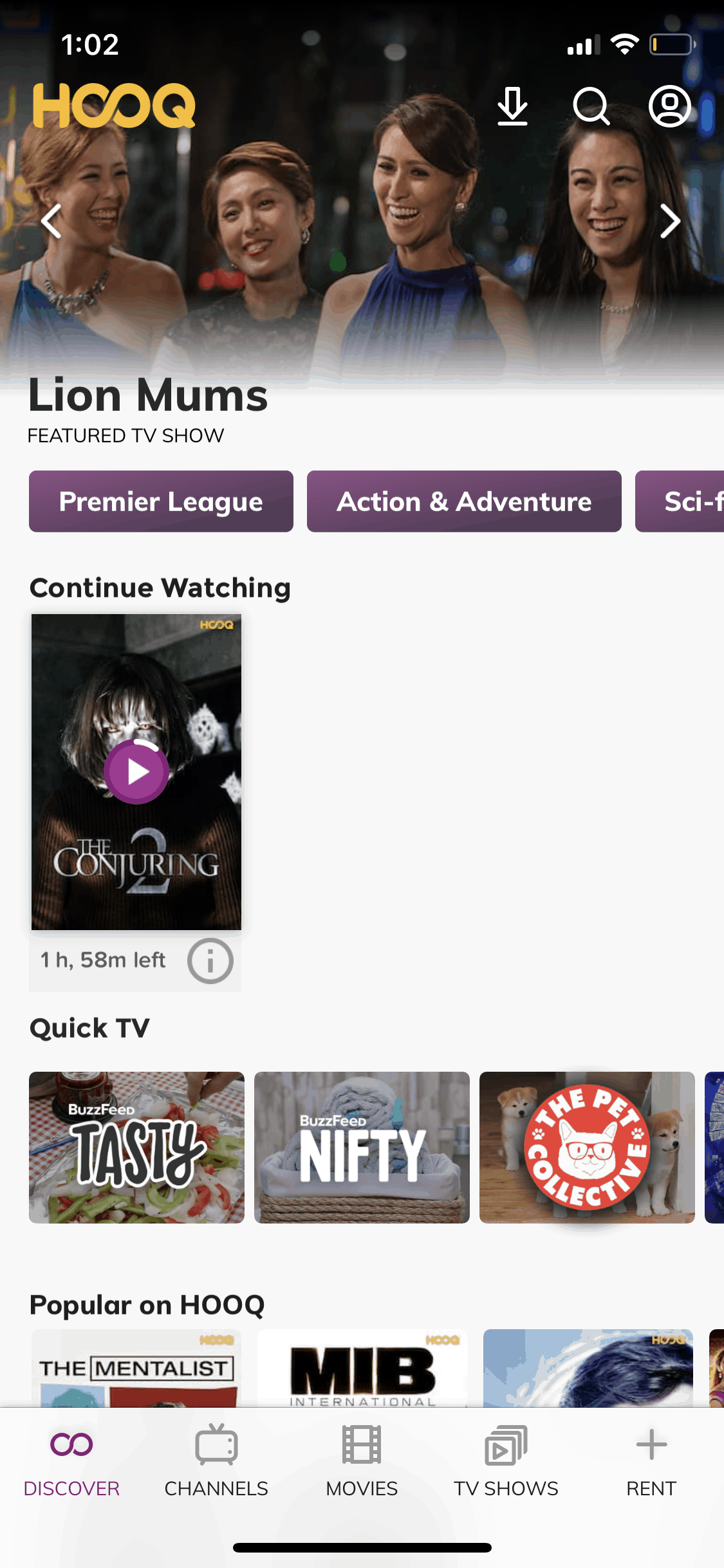 Discover on iOS by Hooq