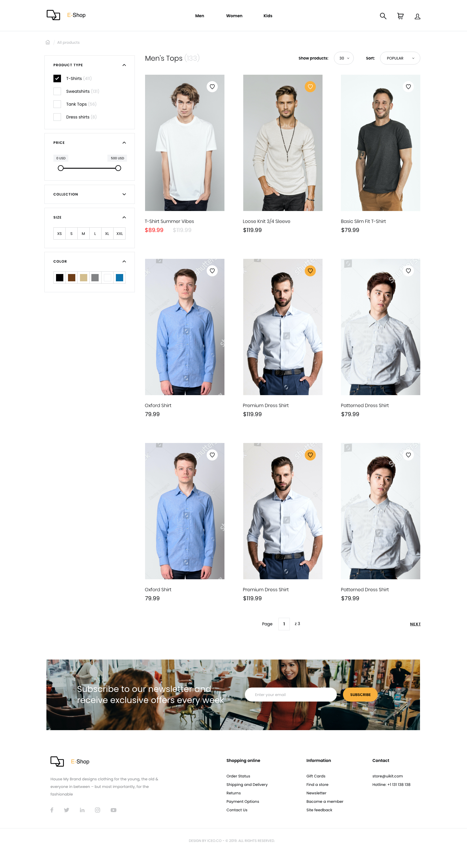 Responsive eCommerce UI Kit for Adobe XD from UIGarage