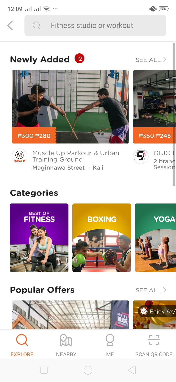 Fitness on Android by Booky