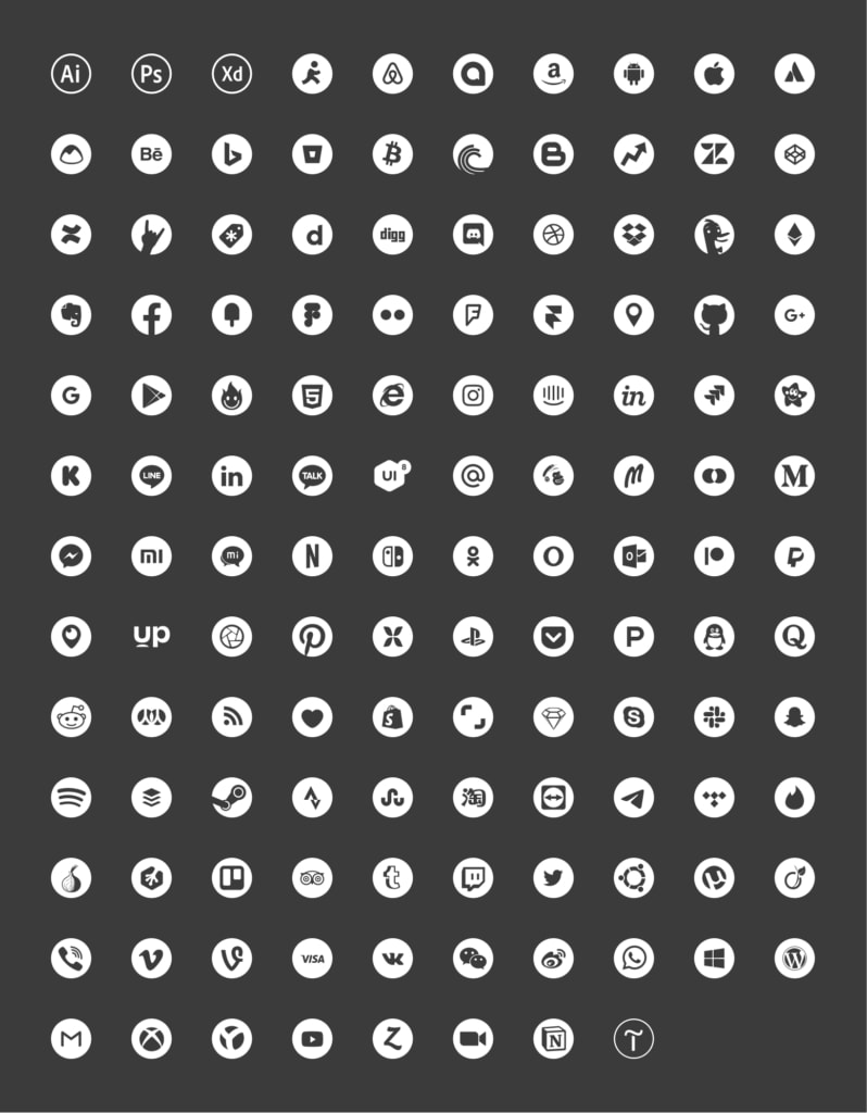 Free Social Icons from UIGarage