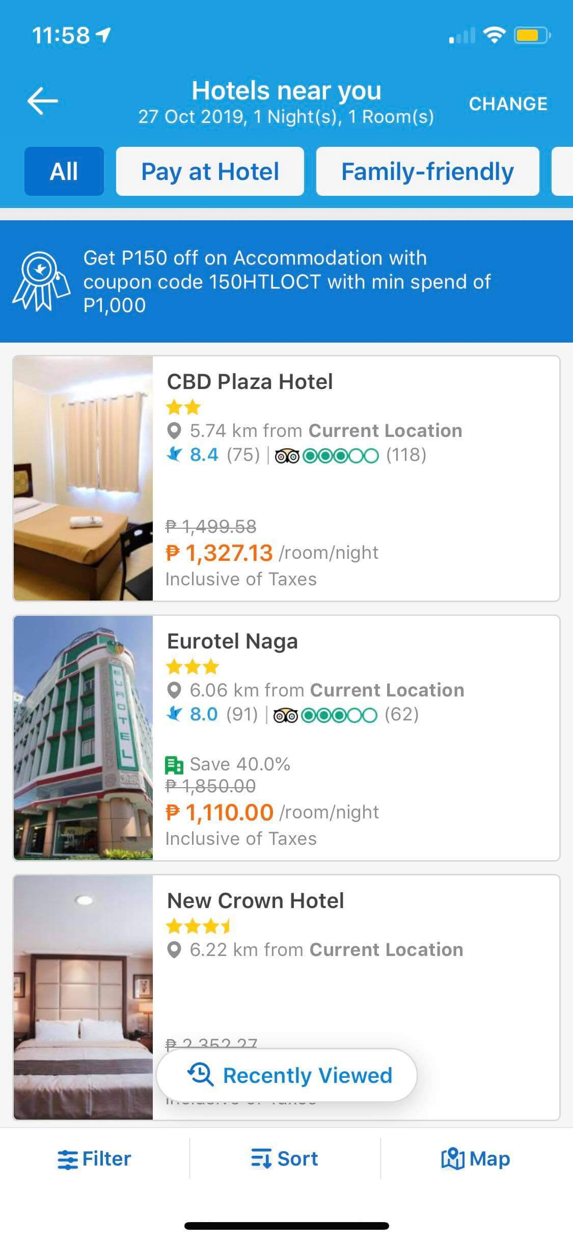 Hotel List on iOS by Traveloka from UIGarage