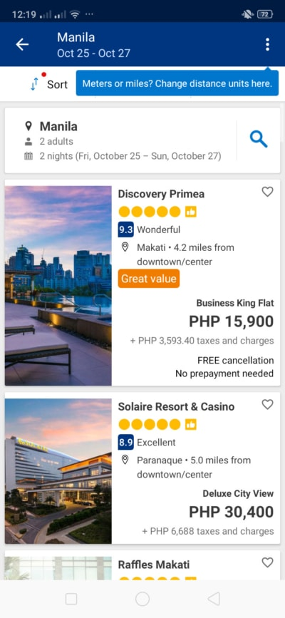 List on Android by Booking.com from UIGarage