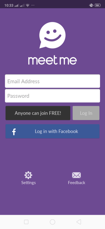 Login on Android by Meet Me from UIGarage