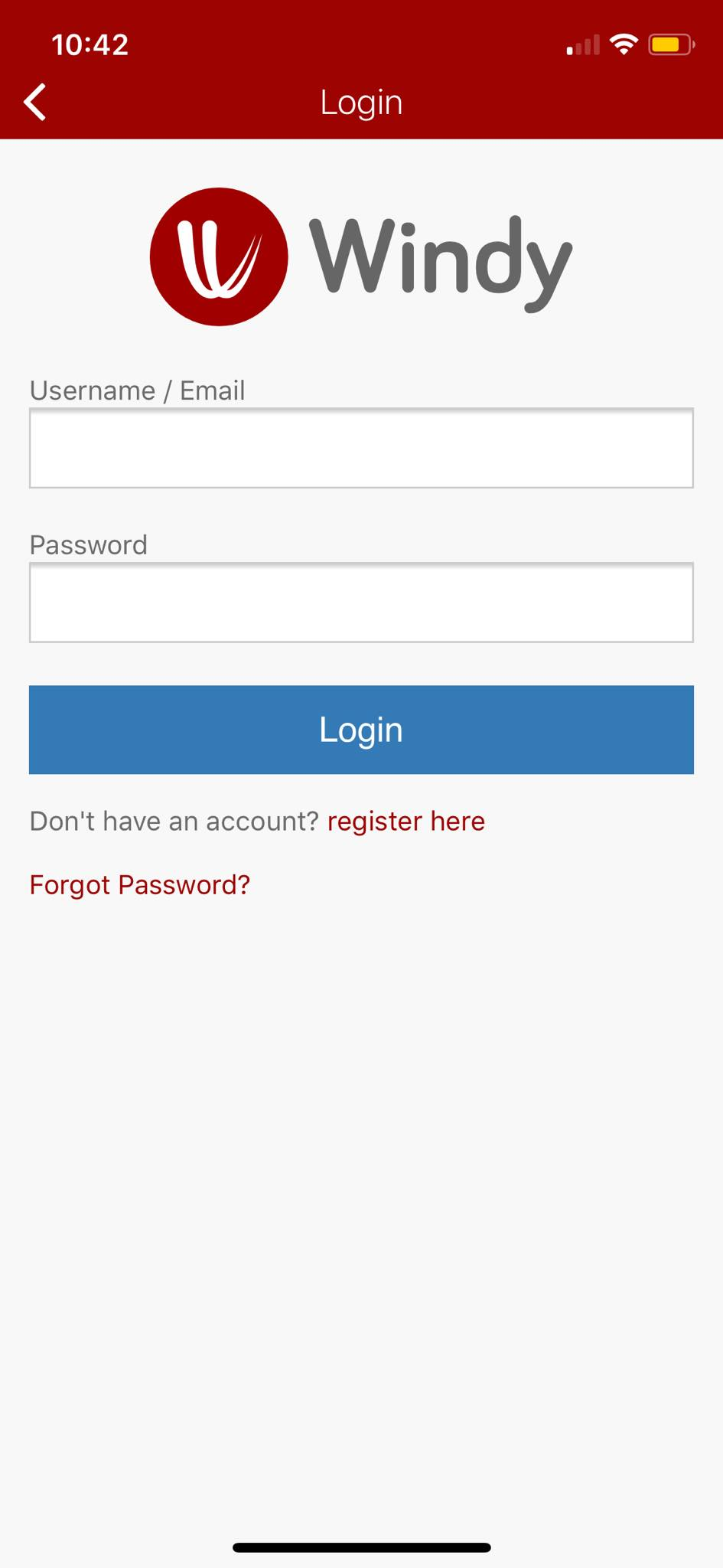 Login on iOS by Moovit from UIGarage