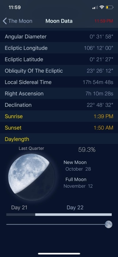 Moon Date on iOS by The Moon from UIGarage