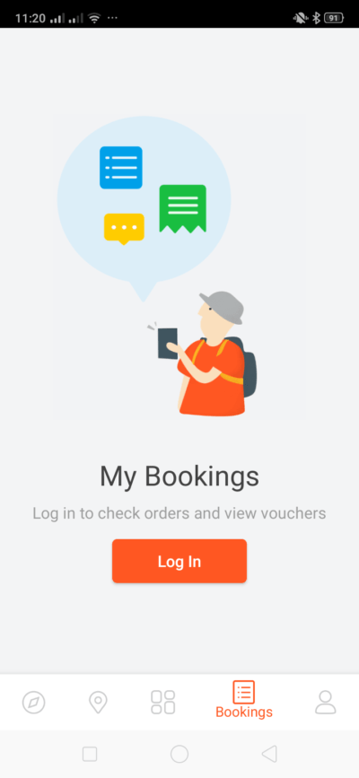 My Bookings on Android by Klook from UIGarage