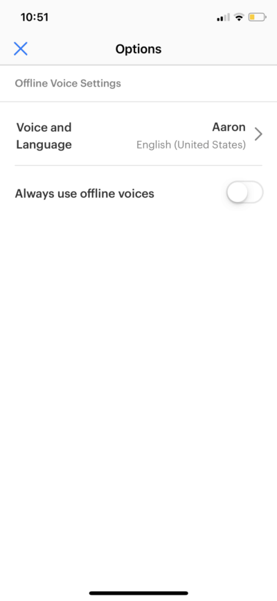 Options on iOS by Pocket from UIGarage