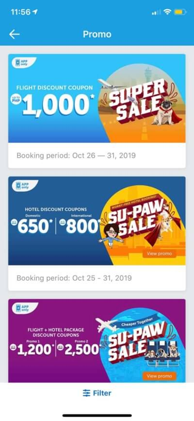 Promos on iOS by Traveloka from UIGarage