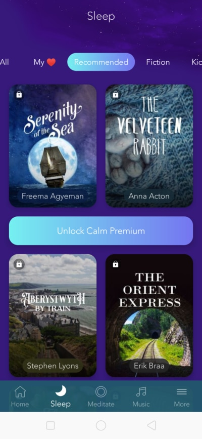 Recommended on Android by Calm from UIGarage