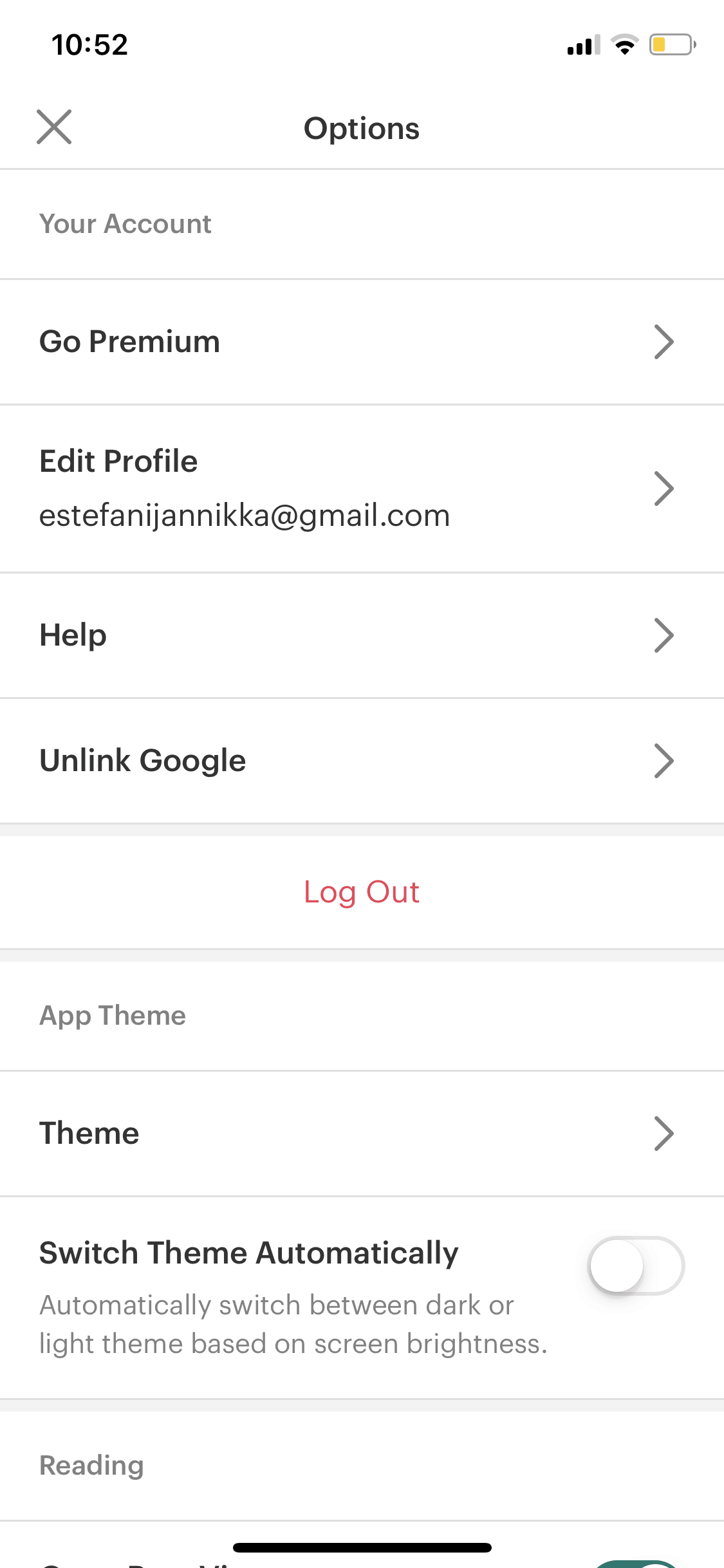 Settings on iOS by Pocket from UIGarage