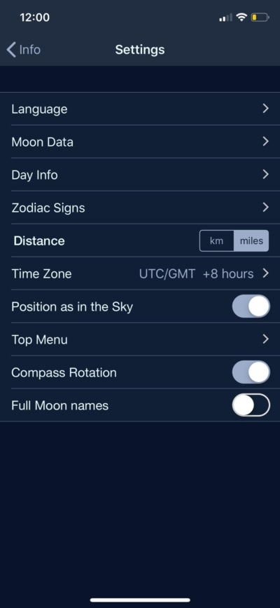 Settings on iOS by The Moon from UIGarage