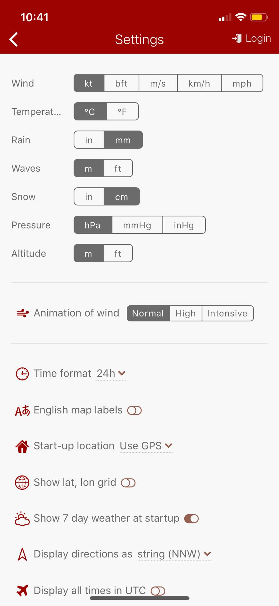 Settings on iOS by Windy from UIGarage