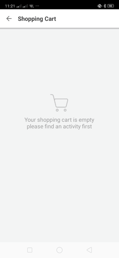 Shopping cart on Android by Klook from UIGarage