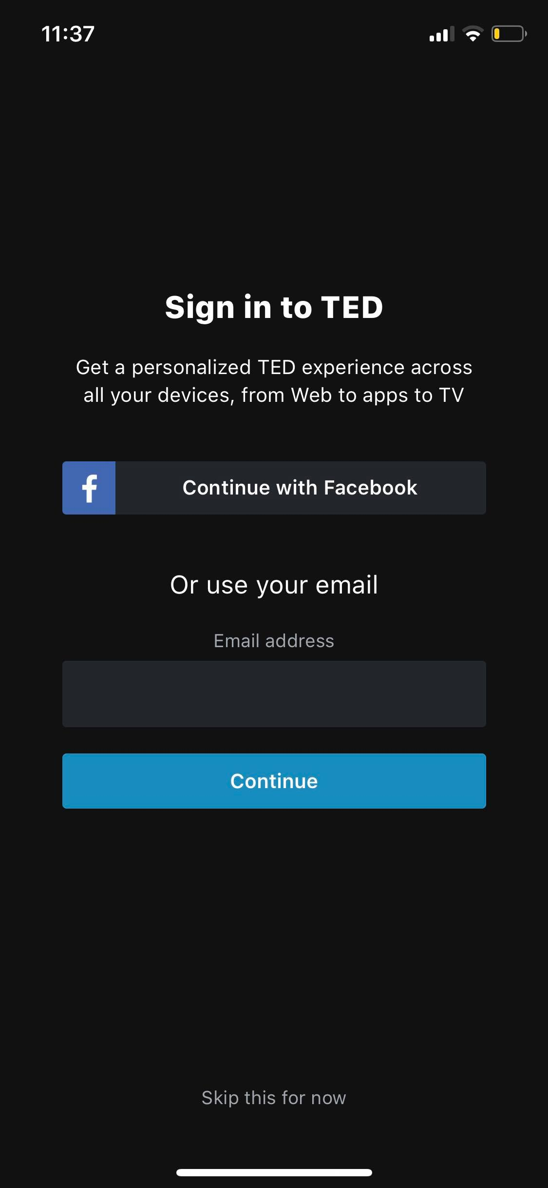 Sign In on iOS by Ted from UIGarage
