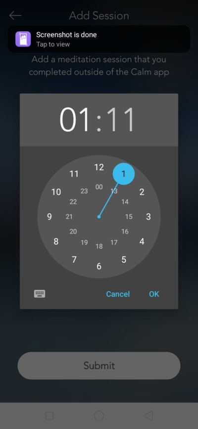 Time Picker on Android by Calm from UIGarage
