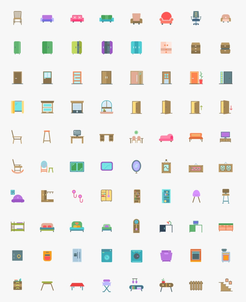 Transport & Household Free Icon Pack from UIGarage