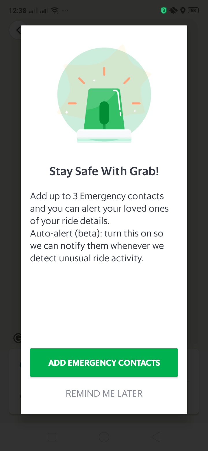 Alerts on Android by Grab from UIGarage