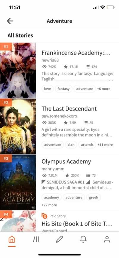 All Stories on iOS by Wattpad from UIGarage