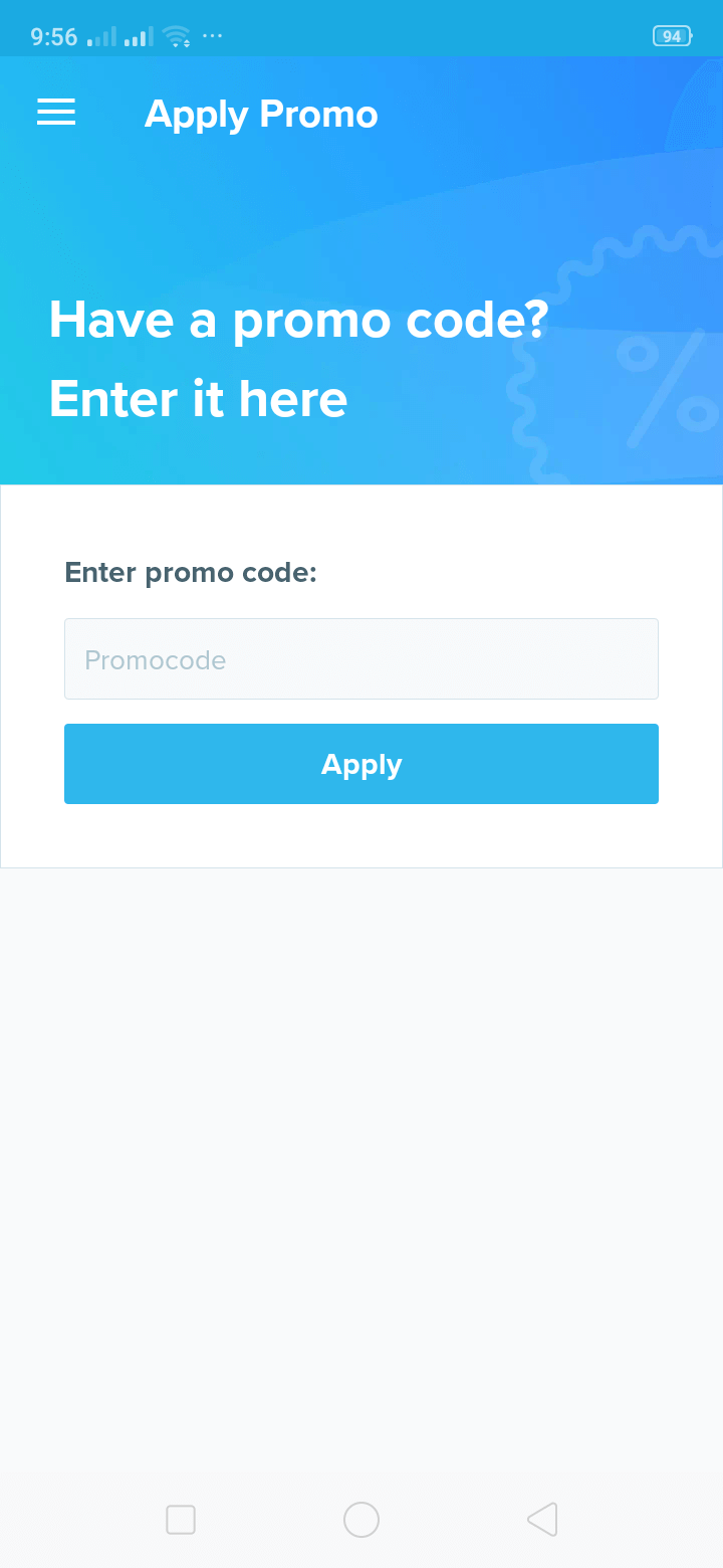 Apply Promo on Android by Wish